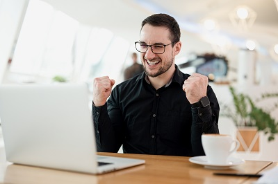 Business person SEO writing works